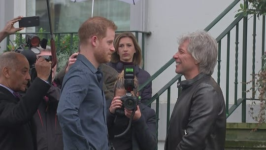 Prince Harry returns to UK, joins Jon Bon Jovi for charity song recording at Abbey Road