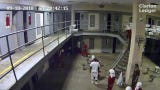 Surveillance video captured the beating of Landon Veal by fellow inmates. Guards are seen coming into the room and then leaving without helping Veal.
