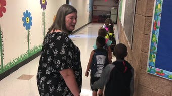 It's back-to-school for Abilene ISD, and second-grade teacher Karen James was ready Wednesday morning for her new students to arrive