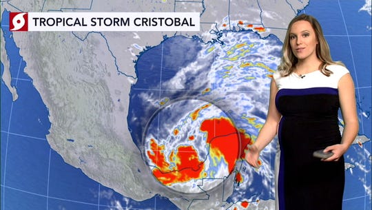 Tropical Depression Cristobal could hit US late this weekend after strengthening