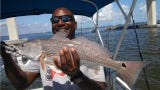 Redfish action has been very good, but forget offshore fishing for another week.