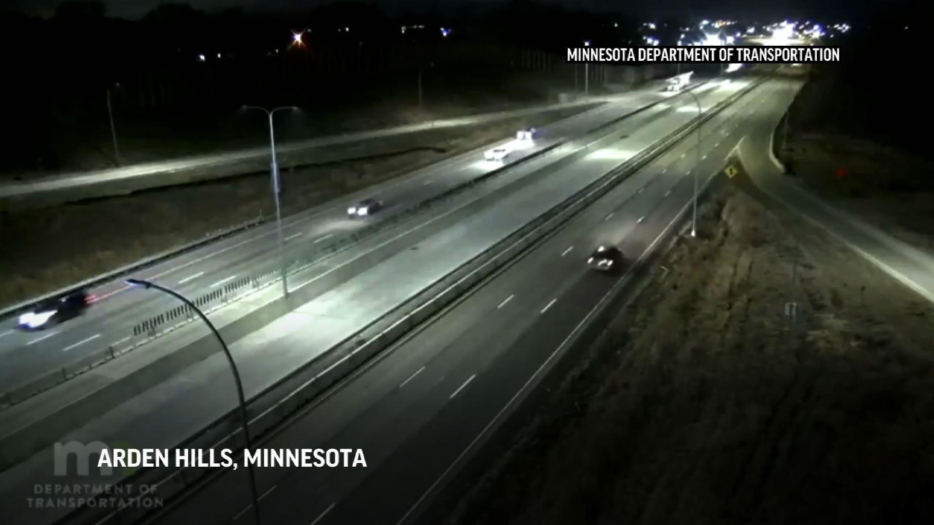 Small plane makes emergency landing on Minnesota highway hitting vehicle