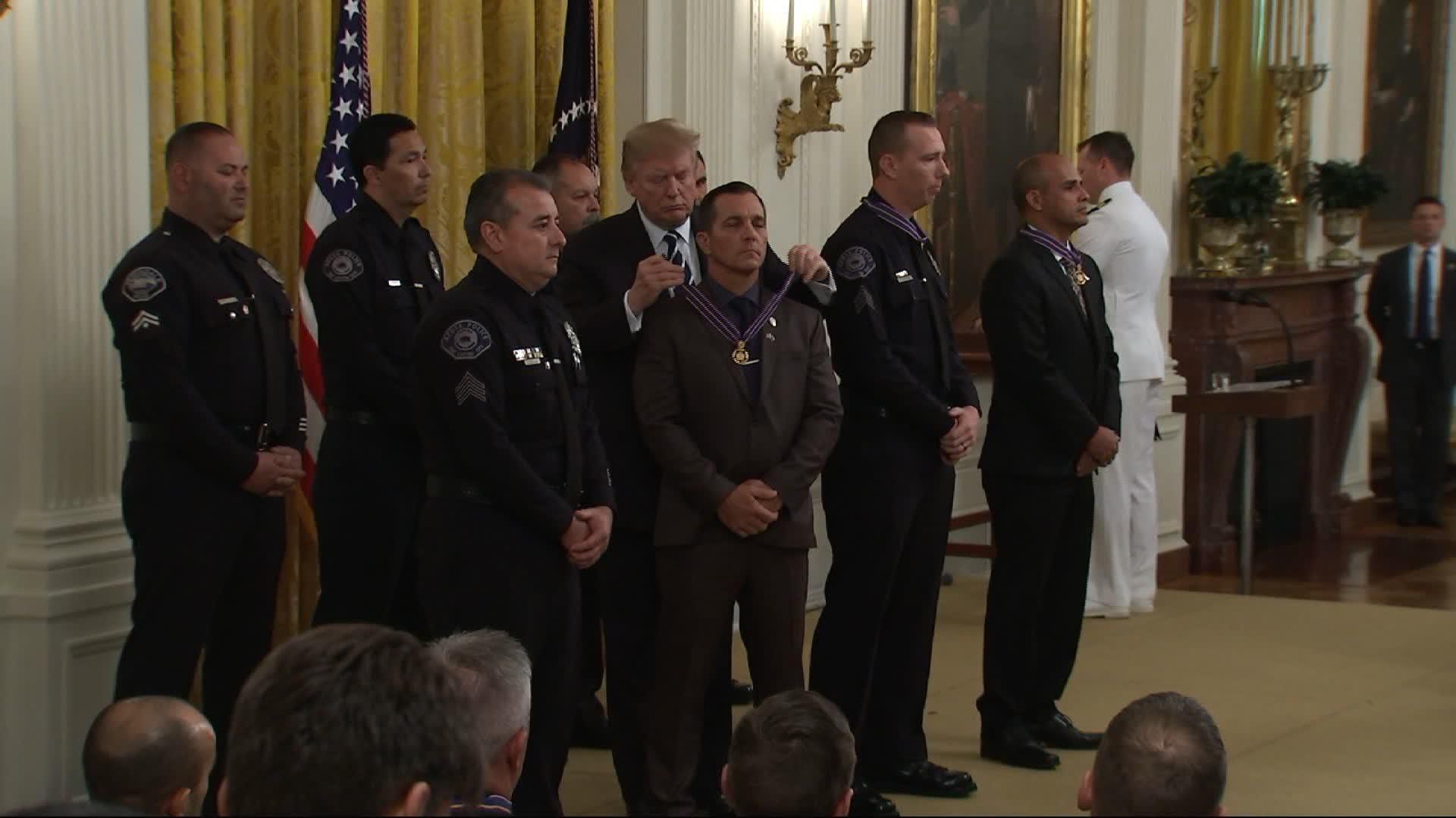 Oregon State Police trooper Nicholas Cederberg awarded Medal