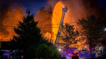 The fire was initially reported before 3 a.m. at a pallet facility. The business lost at least 10 trucks and their pallet inventory for the summer.