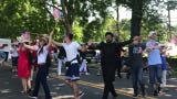 Thousands of people gathered to cheer on the dozens of Hyde Park Independence Day parade participants on Thursday, July 4, 2019.