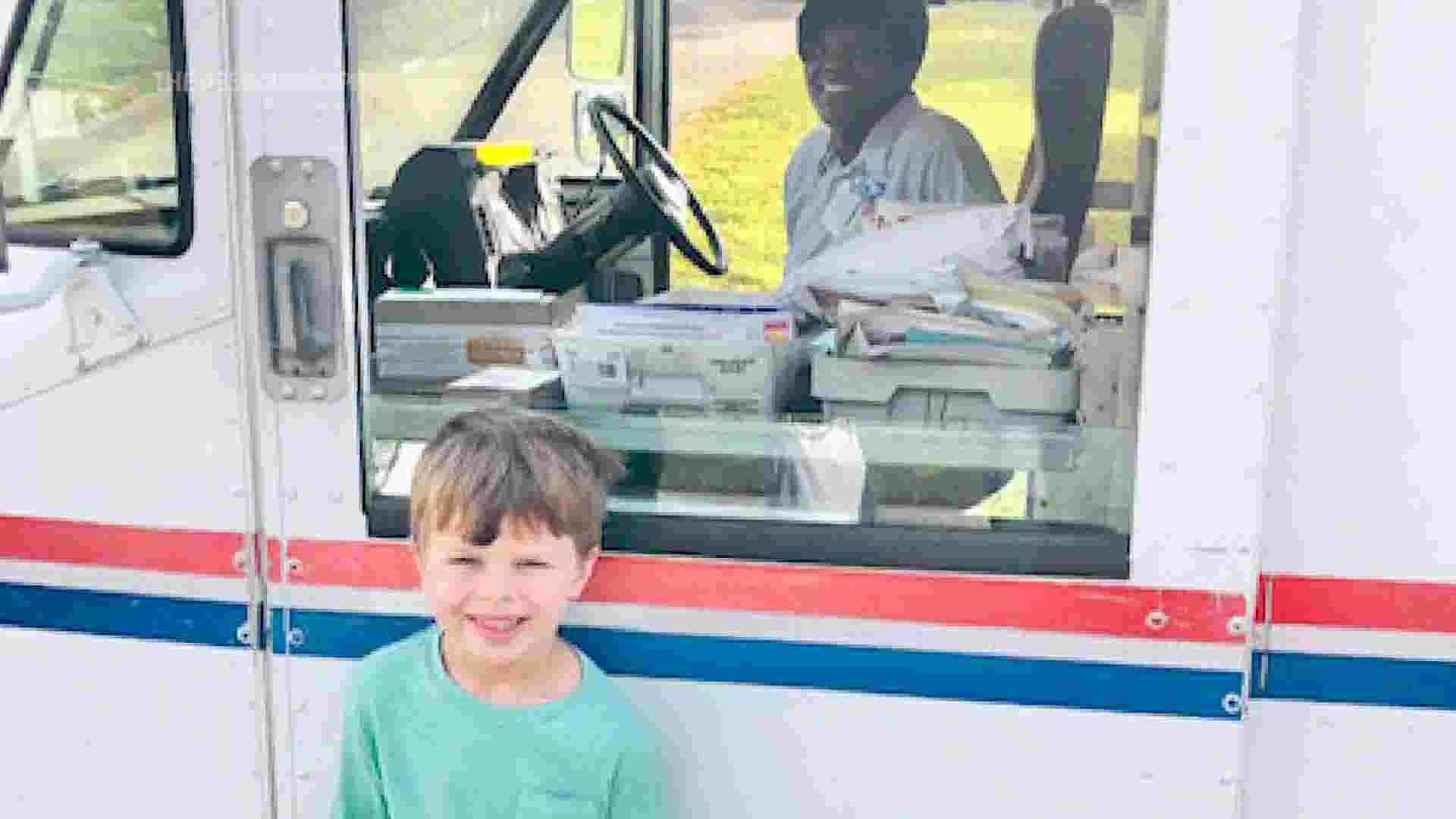 Mail carrier surprises boy with birthday gift