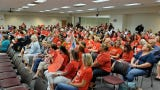 Brevard teachers rallied at Tuesday's school board meeting as teacher pay talks are set to resume next week. Meanwhile, the union and district send competing messages about negotiations.