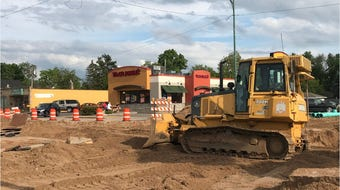How does the Taco John's drive-thru work during construction?