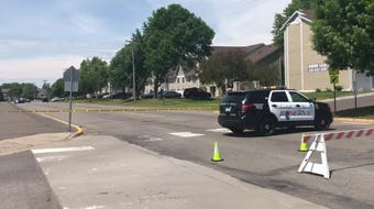 A man was shot in the chest at about 10:15 a.m. Saturday outside a Sartell apartment, according to Sartell Police Chief Jim Hughes.