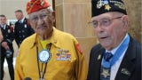 """Thomas H. Begay is a WWII Navajo Code Talker, while Hershel """"Woody"""" Williams is the last living WWII Congressional Medal of Honor recipient from the Battle of Iwo Jima."""