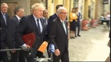 British Prime Minister Boris Johnson and European Commission President Jean-Claude Juncker held their first face-to-face talks Monday, without any visible signs of a breakthrough on an elusive Brexit deal. (Sept. 17)