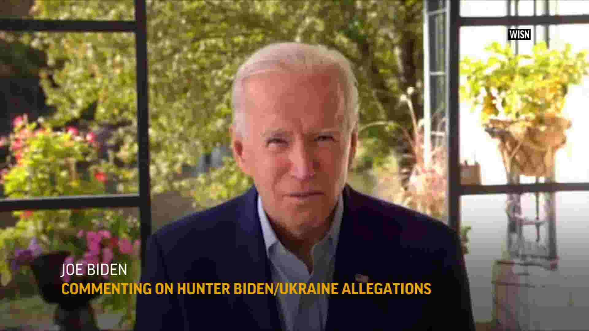 Biden: desperate Trump campaign wants to smear him