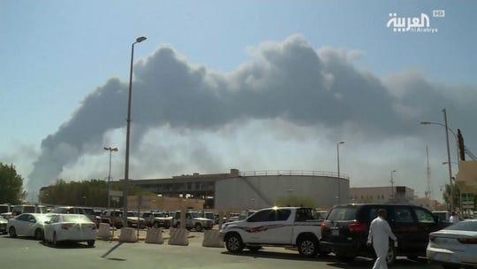Drone attack by Yemeni rebels sets off fires at major Saudi Arabian oil facilities