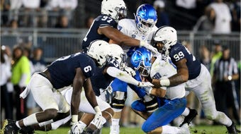 Penn State's defensive linemen call themselves the Wild Dogs. They've helped lead the nation in sacks, once again.
