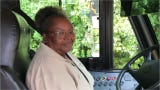 JPS bus driver Sandra Jenkins has been waking up before dawn to drive students to school for 23 years.