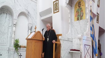 Saints Constantine & Helen Greek Orthodox Church Chanter John Angelopoulos sings in Greek