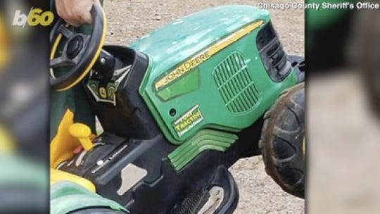A Minnesota toddler drove himself to the county fair in his toy tractor. Police found him at the Tilt-A-Whirl