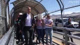 Democratic presidential candidate Cory Booker walked five asylum seekers over the Paso Del Norte between Juárez and El Paso Wednesday, July 3, 2019.