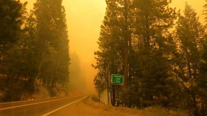 Lake Tahoe residents pack roads after evacuation orders