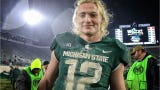Take a look at key things to know about Michigan State football quarterback Rocky Lombardi.
