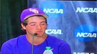 After their last game at LSU on Sunday, Josh Smith and Antoine Duplantis were very emotional