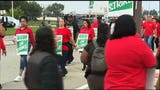 United Auto Workers say they just want 'a fair contract' as talks are expected to resume Monday morning with General Motors. (Sept. 16)