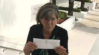 Donna Carman, former executive director of Indiantown Nonprofit Housing, pleads guility in federal court after allegations of embezzling. Video taken Oct. 16, 2019.