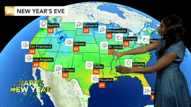Where will the most disruptive weather occur on New Year\'s Eve?