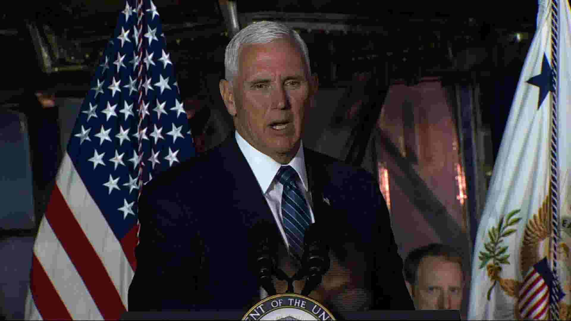 Pence reaffirms US plans to go to Moon, then Mars