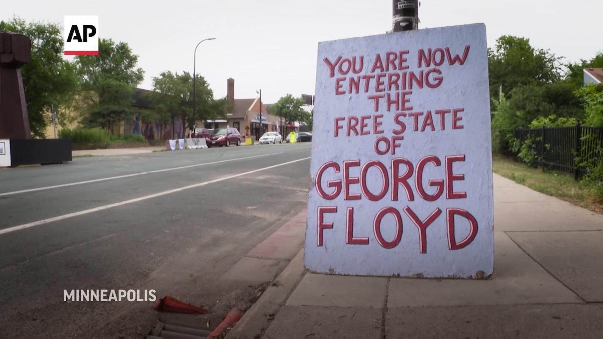 Visitors gather to reflect on George Floyd legacy after