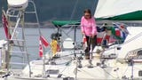 This 77-year-old British woman is the oldest person ever to sail around the world, non-stop, unassisted, and by herself.