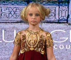 First double amputee child to walk runway in New York Fashion Week shines