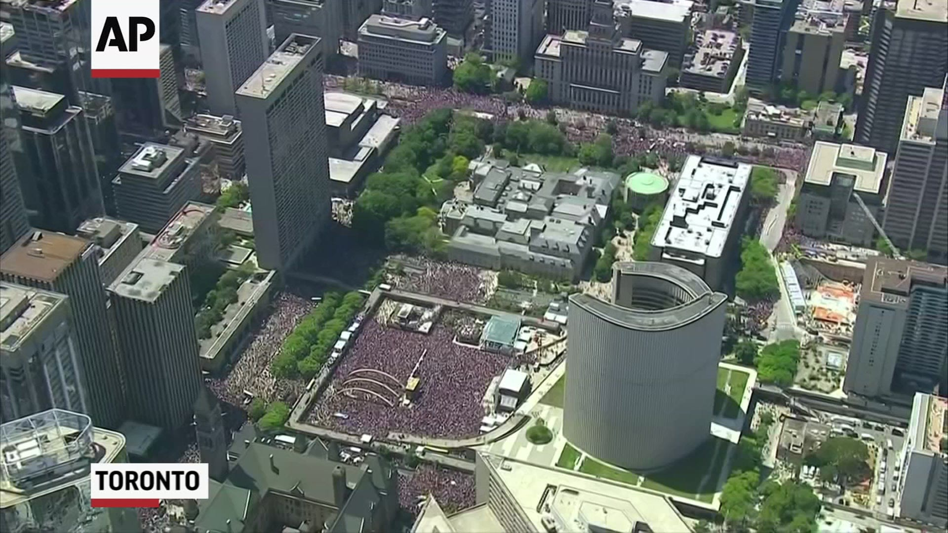 Toronto celebrates Raptors' NBA championship