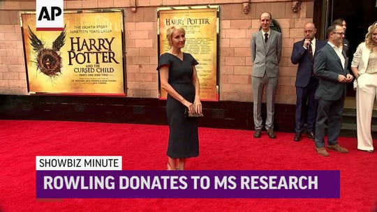 'Harry Potter' author JK Rowling gives $18.8 million gift for MS research