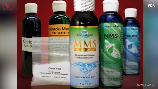 FDA: Don't drink 'miracle water', won't cure autism, HIV/Aids