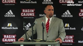 Press conference to announce Matt Deggs will take over as the Cajuns head baseball coach. Thursday, July 18, 2019.