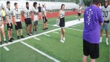 Special needs kids attend Plymouth's Sunshine's Skills and Drills camp at PCEP football stadium on July 26. Kids were matched up with varsity players.