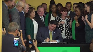 Gov. J.B. Pritzker signed legislation making Illinois the 11th state in the nation to legalize recreational marijuana and the second to enact It through the Legislature rather than the ballot box.(June 25)