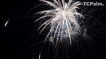 Treasure Coast residents celebrated the 4th of July with a fireworks display over the Indian River Lagoon in Vero Beach.