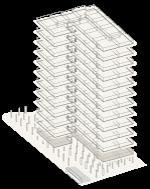 Map of building highlighting floor 1