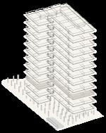 Map of building highlighting floor 3