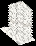 Map of building highlighting floor 6