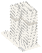 Map of building highlighting floor 8