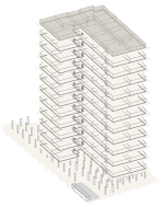 Map of building highlighting floor P