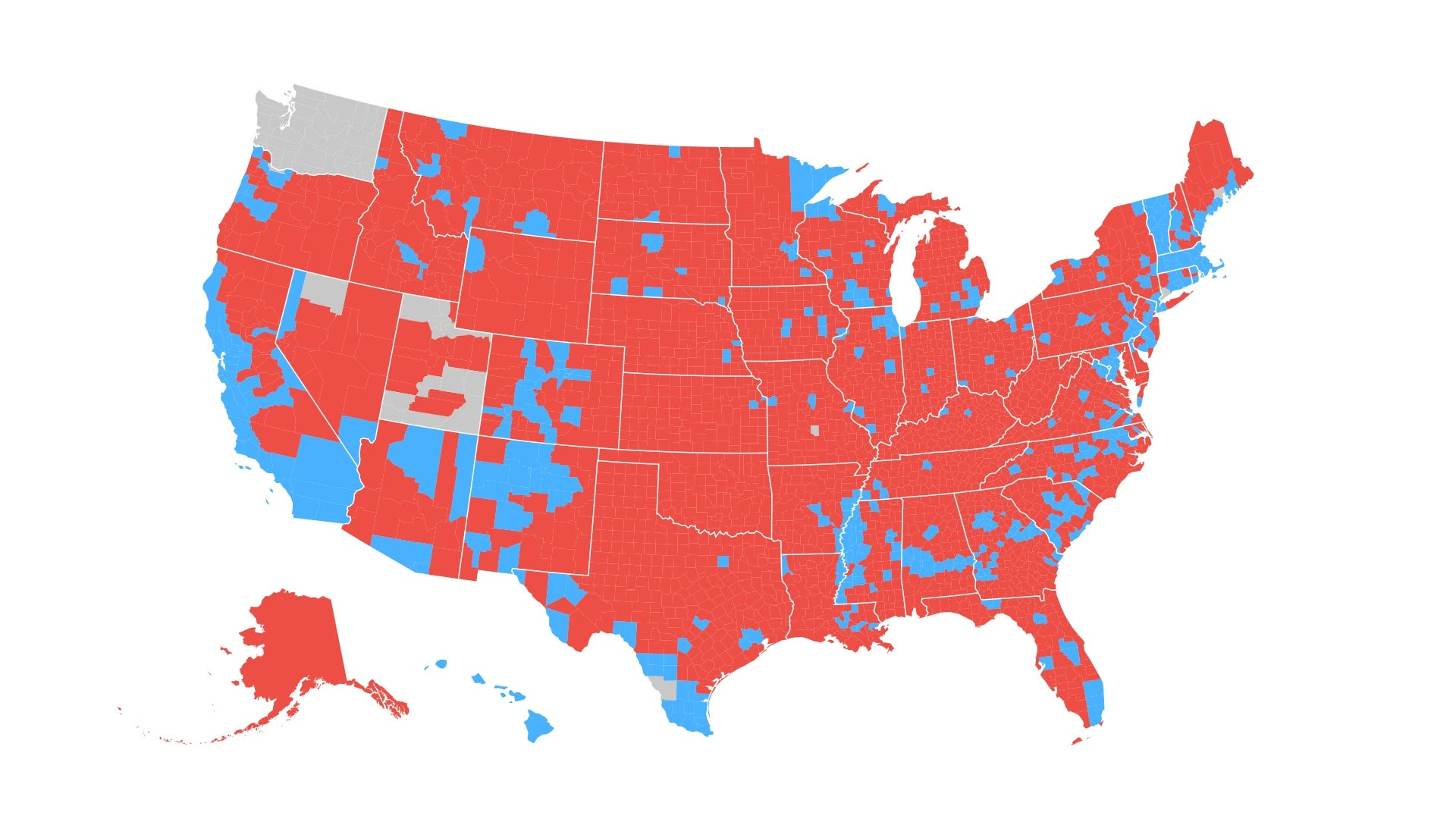 How The Election Unfolded USA TODAY - Voting map 2016 us