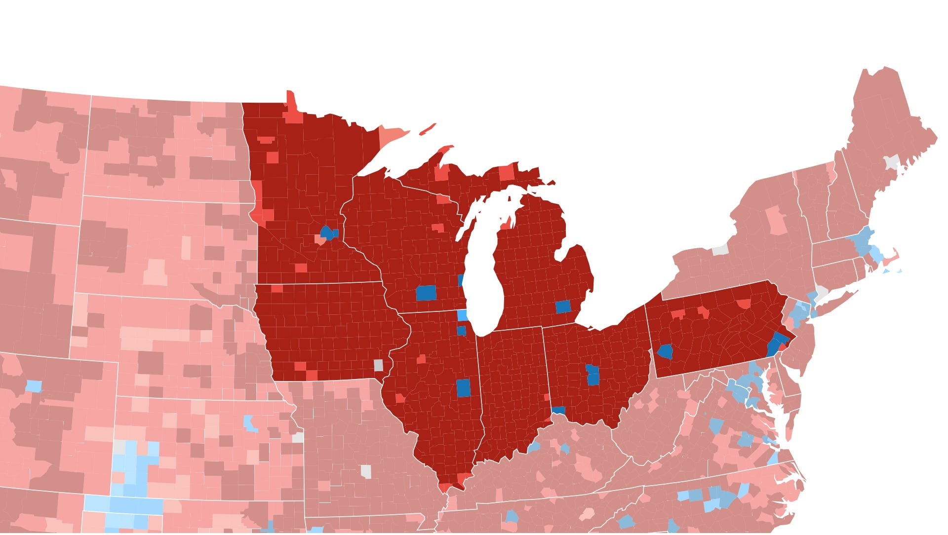 How The Election Unfolded USA TODAY - Us map of voting results by county
