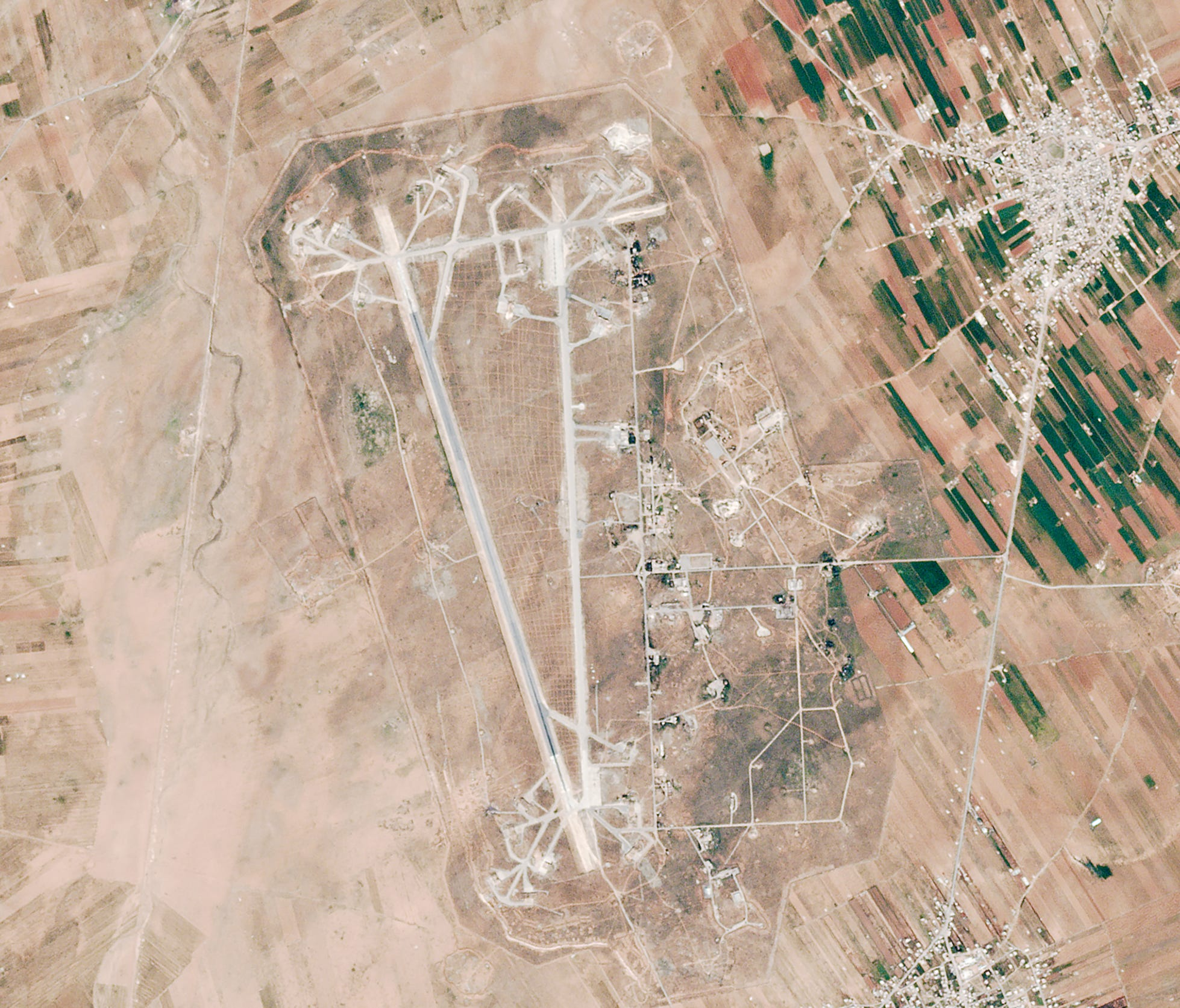 Shayrat Airfield Airstike - USA TODAY