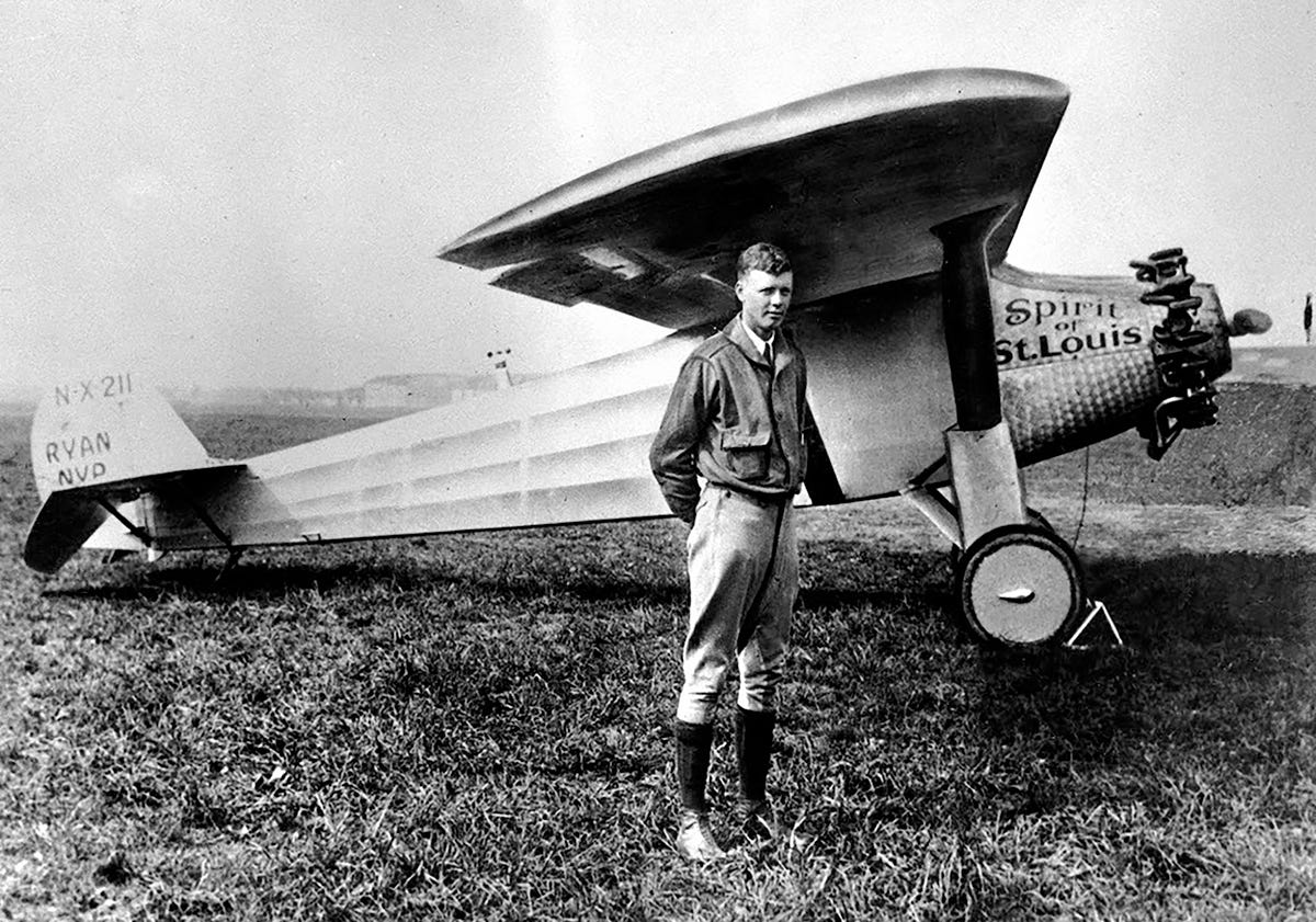Image result for aviator charles lindbergh begins transatlantic flight