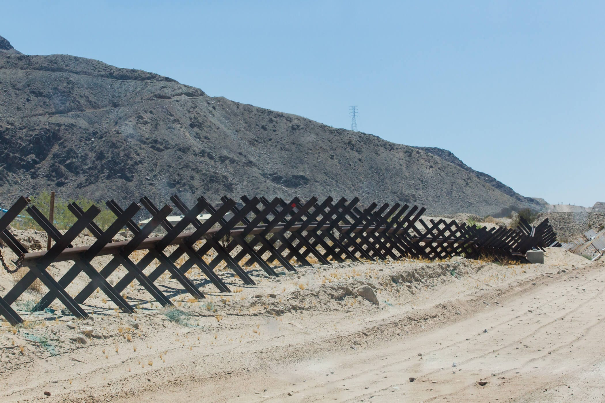 Vehicle Barrier Near Calexico Calif Hannah Gaber Usa Today Network