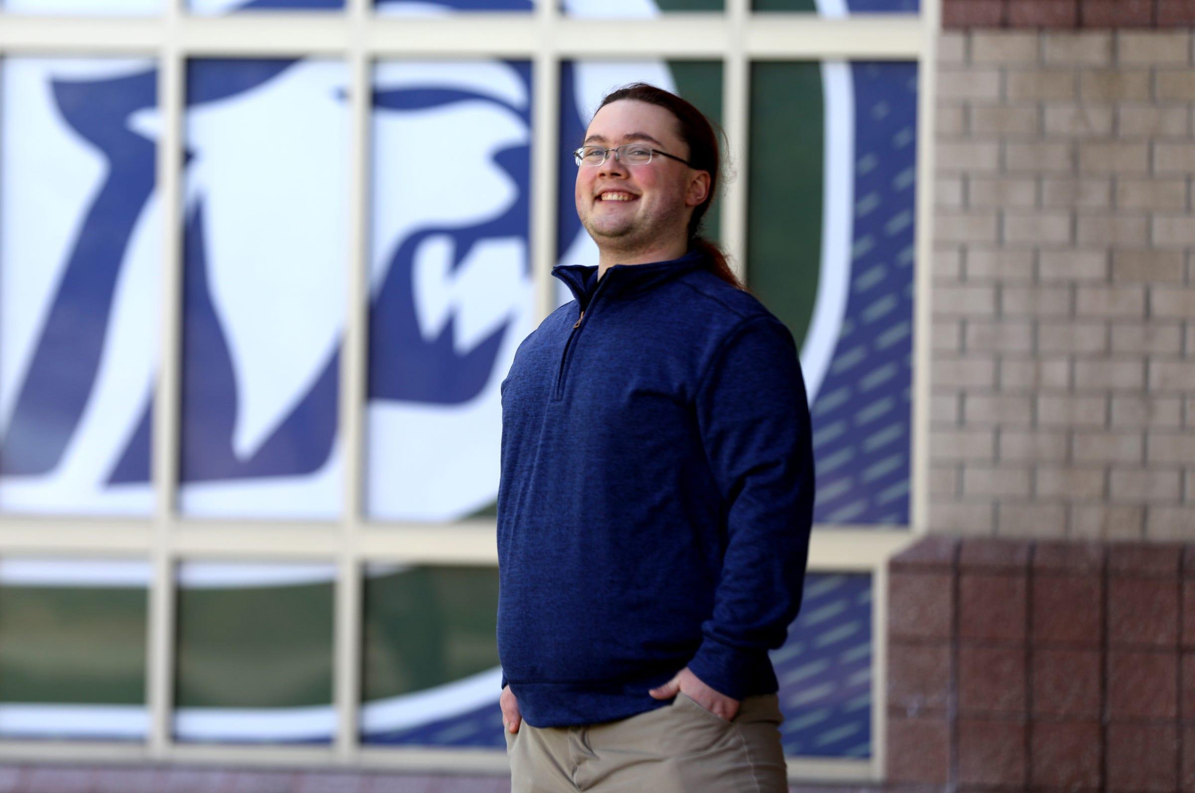 Parker McFarlen, a senior at Dakota High School in Macomb, Michigan.